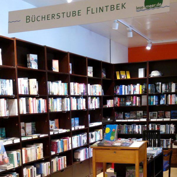 Flintbeker Bücherstube im Obergeschoss